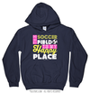 Golly Girls: The Soccer Field Is My Happy Place Hoodie (Youth-Adult)