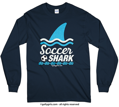 Golly Girls: Soccer Shark Long Sleeve T-Shirt (Youth-Adult)