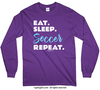Eat Sleep Soccer Long Sleeve T-Shirt (Youth-Adult) - Golly Girls