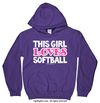 Golly Girls: This Girl Loves Softball Hoodie (Youth-Adult)