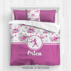 Golly Girls: Floral and Lace Personalized Softball Comforter Or Set
