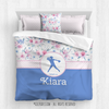Softly Spring Sweet Floral Softball Personalized Comforter Or Set - Golly Girls