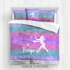 Starry Sky Softball Personalized Comforter Or Set - Golly Girls