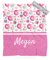 Yum! Sweet Treats Personalized Fleece Throw Blanket - Golly Girls
