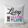 Living The Skater Life Throw Pillow - Golly Girls
