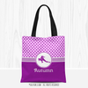 Personalized Volleyball Pink With Purple Stars Tote Bag - Golly Girls