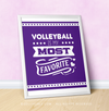 "Volleyball is My Favorite Purple 16"" x 20"" Poster - Golly Girls"