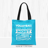 Volleyball is My Favorite Turquoise Tote Bag