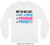 Volleyball To-Do Long Sleeve T-Shirt (Youth-Adult)