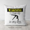 Warning I Could Flip At Any Time Gymnastics Throw Pillow - Golly Girls