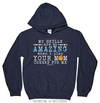 Golly Girls: Your Mom Cheers For Me Basketball Navy Hoodie (Youth-Adult)