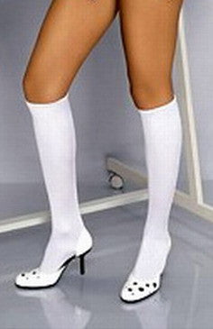 White Hold Up Stockings