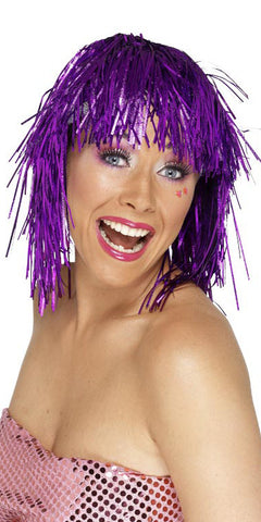 Tinsel Wig Purple