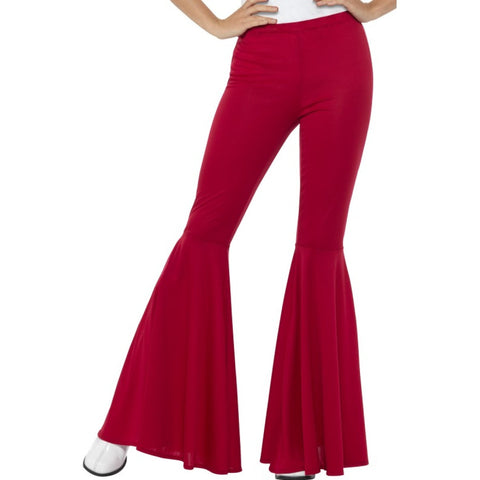 Flared Red Ladies Trousers