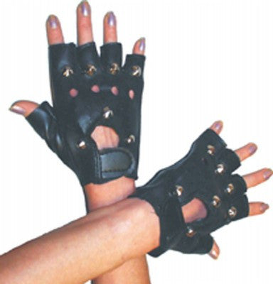 Punk Ladies  Gloves Black