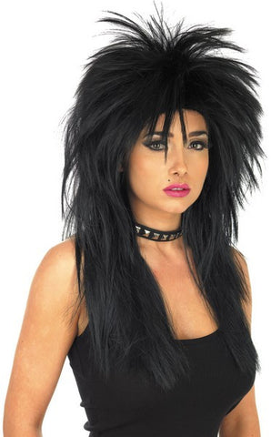 Glam Rock Wig-Black