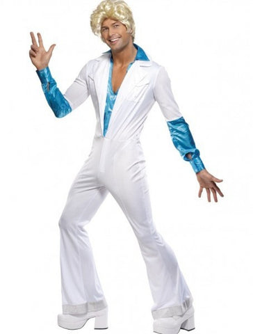 Disco Man White Jumpsuit