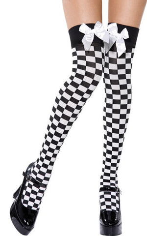 Black&White Check Hold Ups