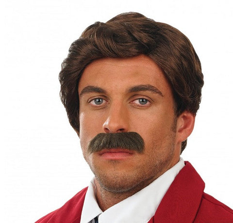 Anchor Man Wig and Tash