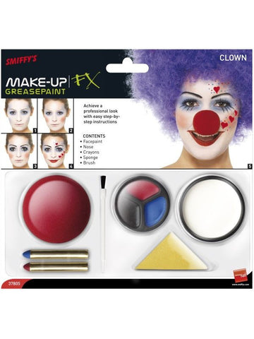 Clown Makeup and Nose