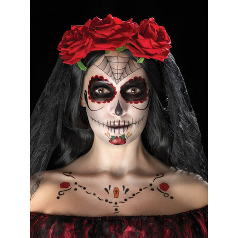 Day of the Dead Face Web Make Up Kit