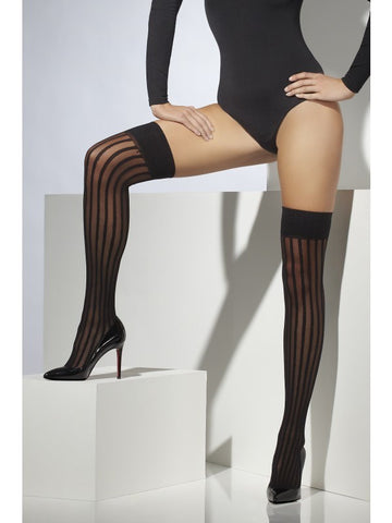 Striped Sheer Hold-Ups