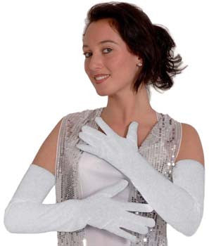 White Opera Gloves