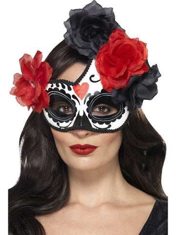 Day of the Dead Cresent Eyemask
