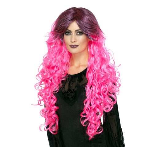 Gothic Glamour Wig-Pink