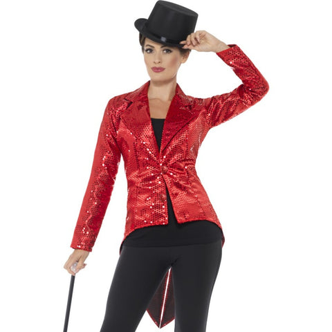 Sequin Red Tailcoat Jacket