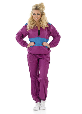 80s Shell Suit-Purple