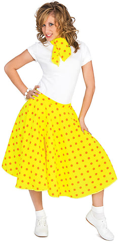 Rock n Roll Skirt Yellow(Including Layered Petticoat)