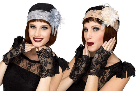 1920'S Lace Hat & Gloves