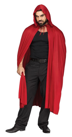 FULL HOODED RED CAPE