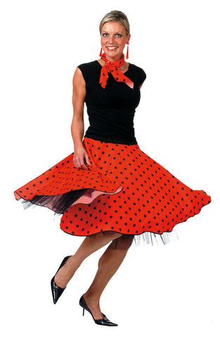 Rock n Roll Skirt Red(Including Layered Petticoat)