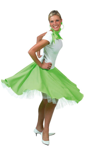 Rock n Roll Skirt Green(Including layered Petticoat)