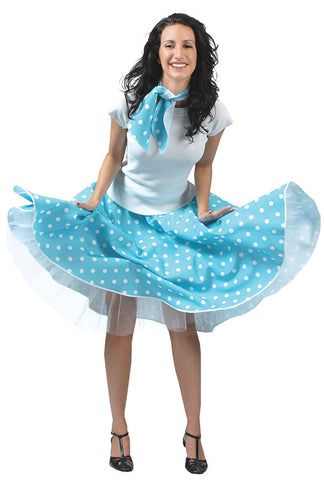 Rock n Roll Skirt Blue(Including Layered Petticoat)