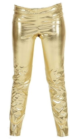 Metallic Trousers-Gold