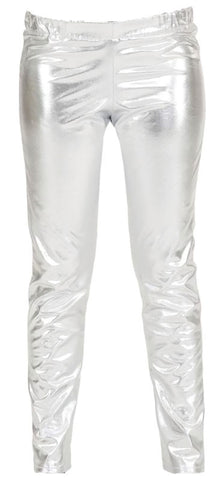 Metallic Trousers-Silver