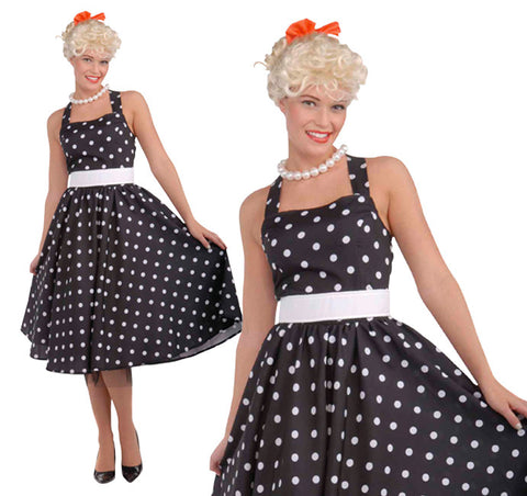 50'S Cutie Dress Black