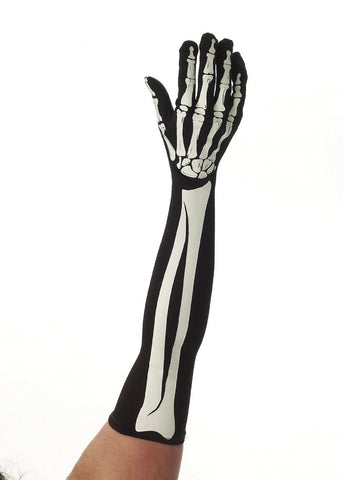 Skeleton  Lady Long Gloves