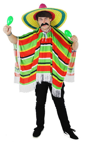 Multicolour Mexican Poncho