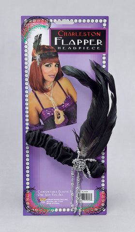 Flapper Headpiece-Black
