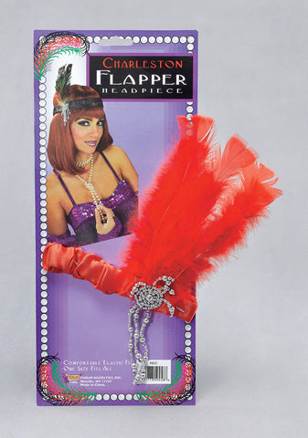 Flapper Headpiece-Red