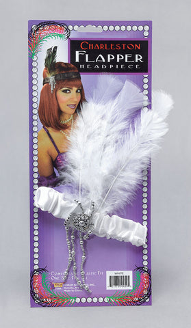 Flapper Headpiece-White
