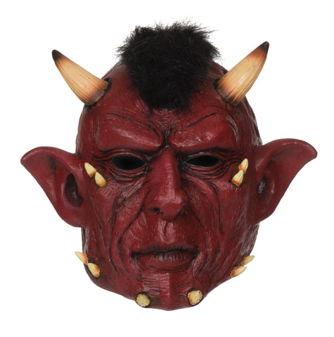 Red Devil Horned Mask