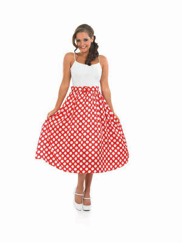 1950s Polka Dot Skirt-Red