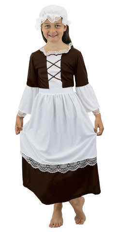 Girls Brown Tudor Maid