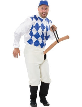 Blue Comedy Jockey