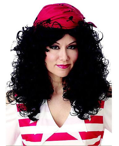 Pirate Wig & Bandana-Black